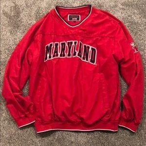 University of Maryland windbreaker jacket sz L